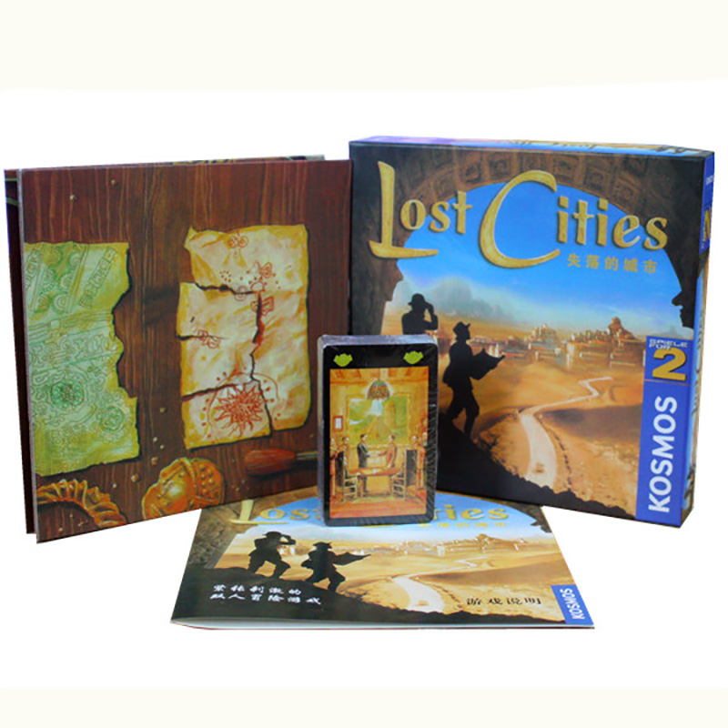 Затерянные города мир приключений игры карты для 2 игрока Настольная игра Отправить Английский инструкции