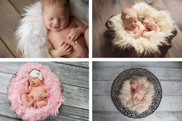 11 Cores de Moda de Nova Baby Girl Boy Newborn Unisex Infantil Cobertor de Lã Longo Enchimento Envolto Cobertor Adereços Fotografia Fundos