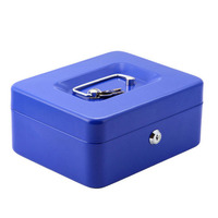 Portable Safe Box Money Jewelry Storage Collection Box For Home School Office With Compartment Tray Lockable