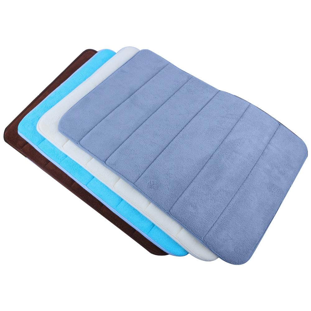 1pc Soft Bath Mat Bedroom Floor Shower Mat Absorbent Non