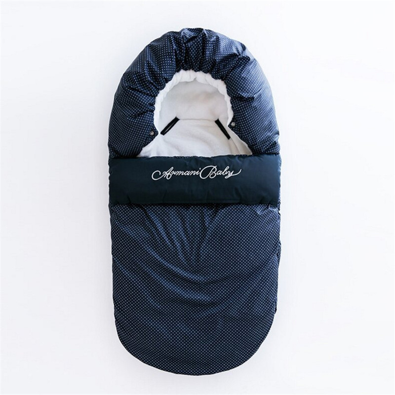 Baby Winter Envelope For Newborns Sleep Thermal Sack Cotton Kids Sleep Sack In The Carriage Wheelchairs Warm Sleeping Bag цены