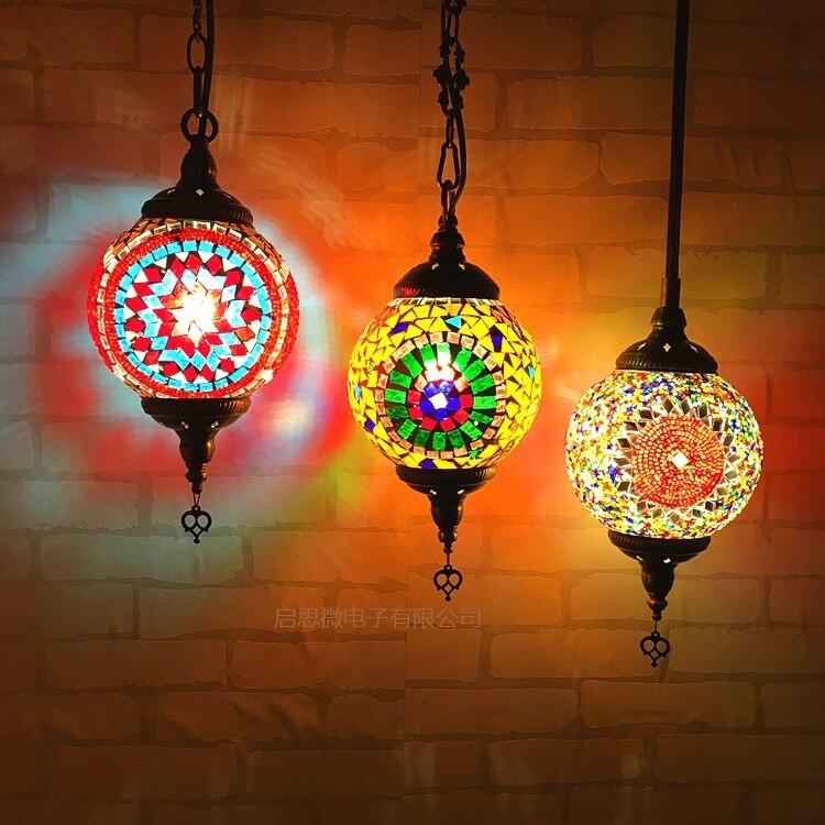 где купить 2017 Newest stytle Turkey ethnic customs handmade Mosaic lamp romantic cafe restaurant bar tree Pendant light bar Pendant lamp по лучшей цене