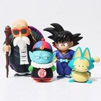Dragon Ball Güneş Goku Pilav Puar Efendi Roshi PVC Action Figure Modeli Koleksiyonu Oyuncak Bebek 4 adet/takım Ücretsiz Kargo