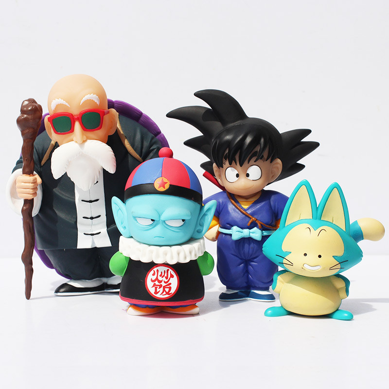 Dragon Ball Sun Goku Pilaf Puar Master Roshi PVC Action Figure Model Collection Toy Doll 4pcs/set Free Shipping how to train your dragon 2 dragon toothless night fury action figure pvc doll 4 styles 25 37cm free shipping retail