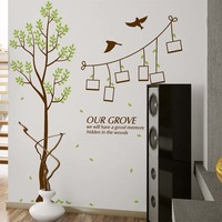 Hot Sale Wall Stickers Home Decor Family Picture Photo Frame Tree Wall Quote Art Stickers PVC