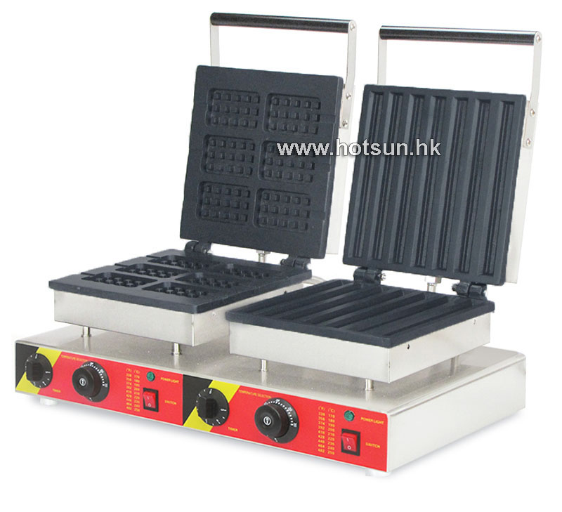 Free Shipping Commercial Non-stick 110V 220V Electric 2 in 1Belgium Waffle Stick + Churros Maker Machine free shipping commercial non stick 110v 220v electric 2 in 1belgium waffle stick churros maker machine