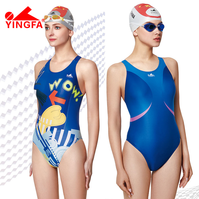 2b06afb8fb36a Yingfa 2018 one piece Competitive swimming girls swimwear competition  swimsuits training swimsuit women girls racing swim suit