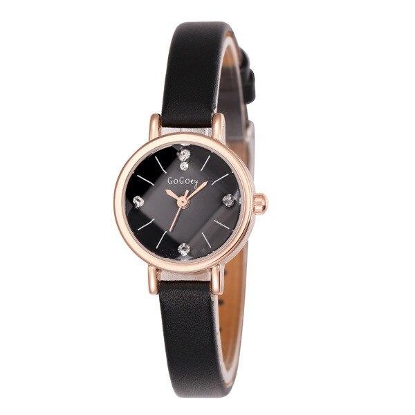 Hot Sales Gogoey brand Rhinestone leather watch women ladies Crystal dress Quartz Wristwatch Relogio Feminino GO053