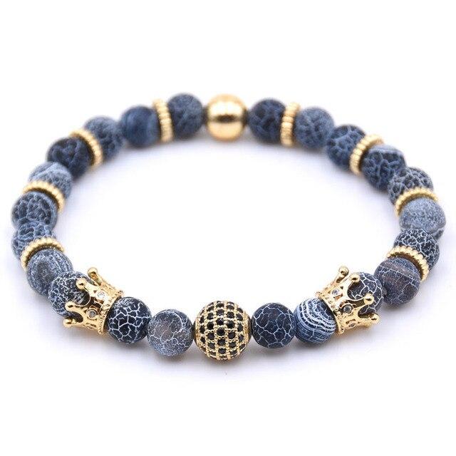 Купить браслет с короной и каменными бусинами для женщин мужчин ювелирные