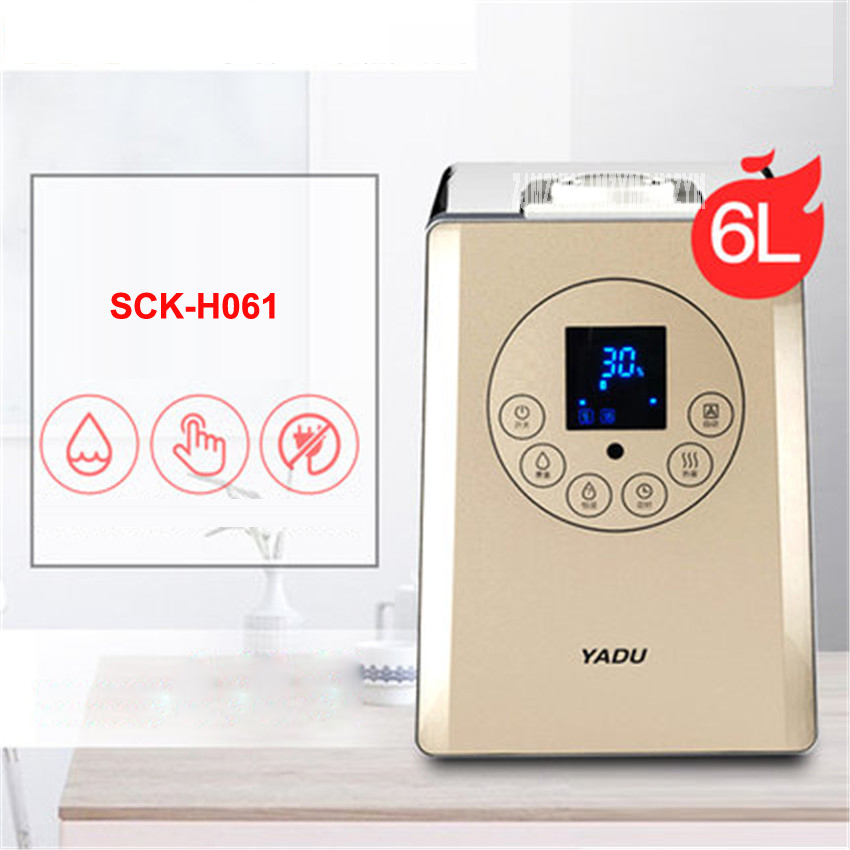 SCK-H061 6L Cute Portable Design Ultrasonic Mute Humidifier Bedroom 30 w Creative Air Purification Office Humidification Machine floor style humidifier home mute air conditioning bedroom high capacity wetness creative air aromatherapy machine fog volume