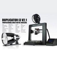 Popular reprap prusa impressora 3d extrusora de alta velocidade wanhao i3 v2.1 impressora frete grátis