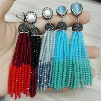 New Bohemia Combine Multi Color Red Black Gray Silver Blue Bead Stone Charms 12 Rows Beaded