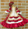 1/3 1/4 1/6 BJD Doll dress ancient costume court luxury fabrics princess dress MSD