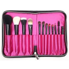1pcs Makeup Brush Bag Women Cosmetic Black PU Leather Makeup