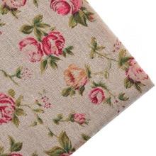 Baumwolle Leinen Stoff Tilda Für Handmade Hometextile Nähen Für Patchwork Tuch Für Kleid Sofa Hemd Blatt Für Rot Flower50x145cm