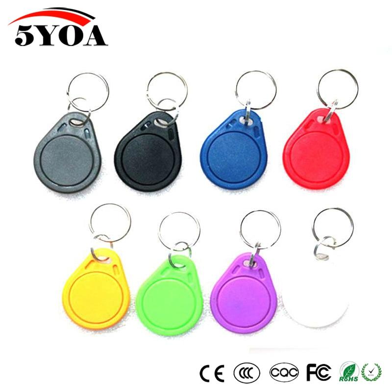 5pcs UID RFID 13.56mhz Duplicator Copy IC Keyfob Tag Tags Card Key Fob Token Ring Proximity Chip Block 0 Sector Writable