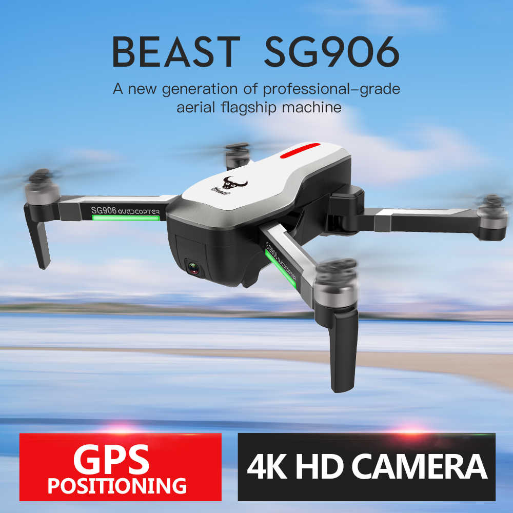 SG906GPS Borstelloze 4 K RcDrone met Camera Handtas 5G WifiFPV Opvouwbare Optische Flow Positionering Hoogte Hold RC Quadcopter Drone