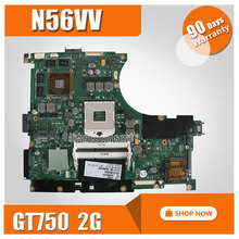 Dla ASUS GT750 REV2.0 N56VV Płyty Głównej płyta główna 2G Fit N56VM N56VJ N56VB N56VZ 100% Testowane