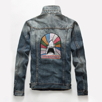 Tatlı Rüyalar Baskı Mavi Kot Ceketler Erkekler Hip Hop Düz Mont Marka Giyim Sıkıntılı Denim Jean Motorcyle Ceketler UE42