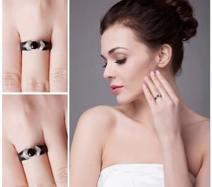 Image 4 - JewelryPalace Genuíno Preto Spinel Anel 925 Anéis de Prata para As Mulheres Anel De Noivado De Prata Esterlina 925 Pedras Preciosas Jóias Finas