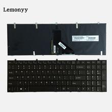 NEW US Laptop Keyboard For Clevo W650 W350SKQ W370STQ W670SR W370ET W350ET W350 W370 W655 W670 Black Blacklight English Keyboard