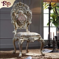 Luxury Italian Style Dining Chairs Solid Wood Hand Carved Chair Free Shipping
