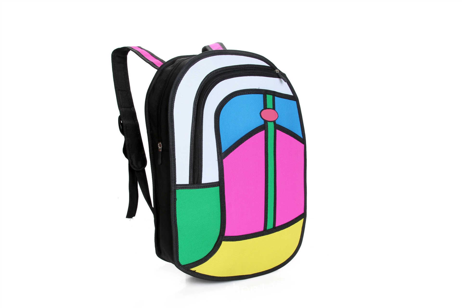 Мультяшный рюкзак в упаковке 3D стерео сумка Haversack рюкзак для мужчин и женщин взрослых подростков Творческий Забавный колледж Бесплатная Прямая поставка