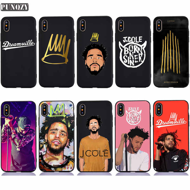 Lucu J Cole Lahir Orang Berdosa Seni untuk iPhone 11 Pro 7 5 5S SE 6 S 8 plus Soft TPU Silicone Case For iPhone X XR X Max Case