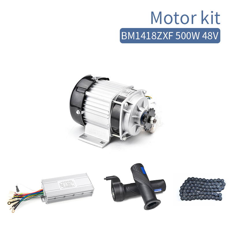 Bicicleta Electrica <font><b>500W</b></font> 48V Brushless <font><b>DC</b></font> <font><b>Motor</b></font> BM1418ZXF e <font><b>Bike</b></font> Bicycle Motorcycle Hub <font><b>Motor</b></font> Electric Tricycle <font><b>Motor</b></font> Kit image