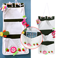 Brand New Cotton Nylon Cartoon Hanging Storage Bag Debris Pouch Wall Multilayer Kids Toy Organize Baby Bed Hanging Storage Bag