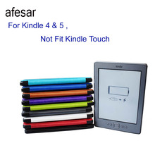 afesar Rushed Striped Advanced Leather Cover Sleeve For Kindle 4 Kindle 5 Case High Quality Book For 4th 5th (not Fit Touch)