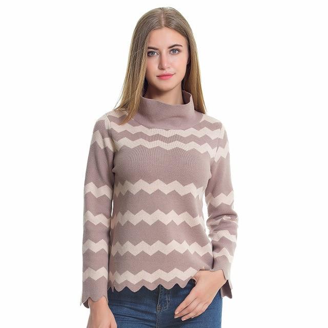 Aliexpress.com : Buy 2017 Turtleneck Pullovers Sweaters Women Knit ...