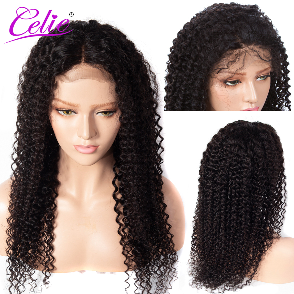 Celie Hair Curly 13x6 Lace Frontal Wig Pre Plucked With Baby Hair Human Hair Wigs Remy