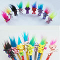 5 pçs/lote Tamanho Mini Lápis Topper A Boa Sorte Trolls Trolls Boneca Papéis em Filmes Presentes PVC Brinquedos Para As Crianças, Squinkies