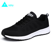 2017 New Popular Running Sneakers For Women Breathable Cushion Fast Run Shoes Walking Trekking Sports Trainers