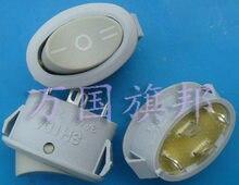 Shipping.3 livre cinza 250 v interruptor do barco, interruptor de três ou quatro oval