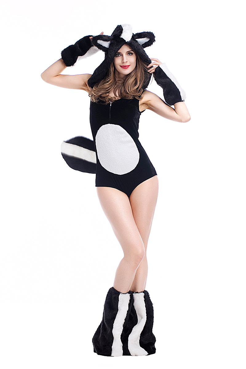 Anime Girl In A Cat Suit Porn us $29.19 6% off adult women sexy cat costume fancy erotic bodysuit hooded  cartoon romper porn games cosplay pokemon outfit for girls plus size-in