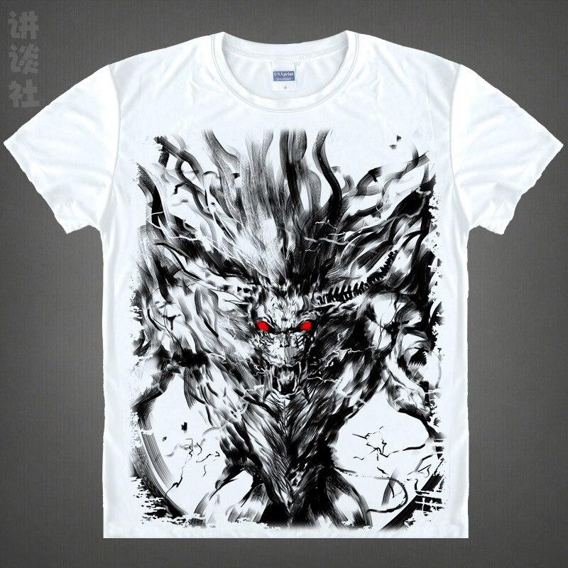 Free shipping 2016 hot sale japanese anime monster hunter Airou printed man women t font b