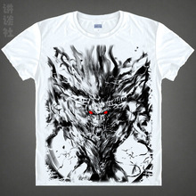 Free shipping 2016 hot sale japanese anime monster hunter Airou printed man women t shirt anime tops
