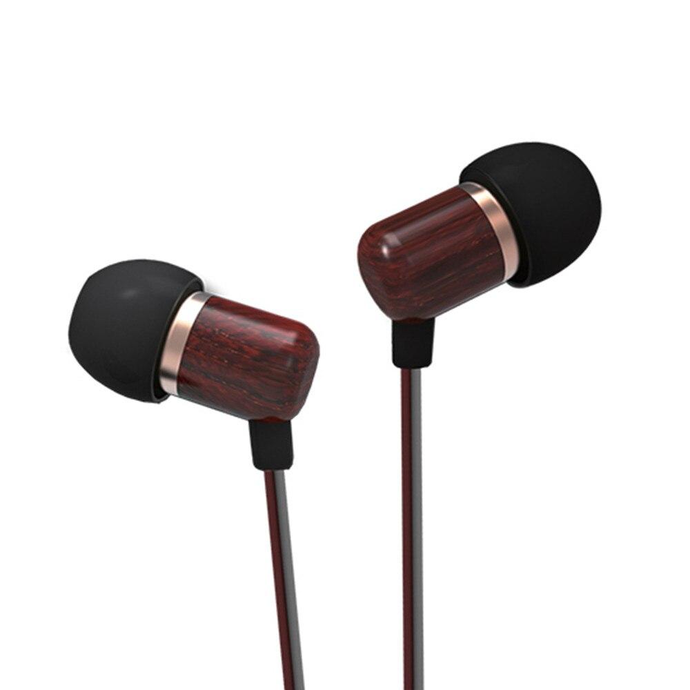 100% Newest inshed IC100 In Ear Earphone Wooden earphone Earbuds HIFI DIY Subwoofer Wooden Earphone earpiece for smart phone