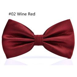 RBOCOTT 23 Colors Solid Fashion Bow Tie Men's Plaid Bowties Red Blue Green Silvery Gray For Men Women Wedding Accessories 5