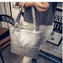 Hot-selling women bag new single shoulder bag pu water to wash hand contracted large capacity package