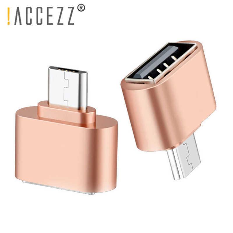 ! Accezz OTG Micro USB 2.0 Konektor Smartphone Android untuk Xiaomi Huawei LG Usb Flash Disk Mouse Keyboard OTG Converter