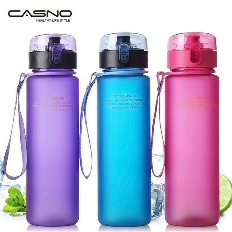 CASNO 560ML My Portable Water Bottle Outdoor Sports Running Bottle For Water Frosted Bottle For Tea