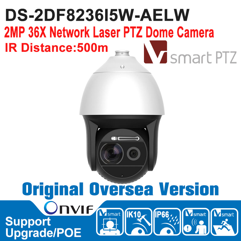 HIK   DS-2DF8236I5W-AELW Hik Speed Dome Camera 2MP 1080P Outdoor 2MP 36X Network Laser PTZ Dome Camera Hi-POE IP66 IK10 ds 2df7274 ael hik ptz camera 1 3mp network ir ptz dome camera speed dome camera outdoor high poe ip66 h 264 mjpeg mpe