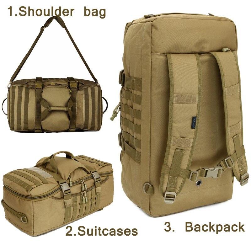 Sac à dos tactique militaire extérieur 60L sac à dos de Camouflage imperméable en Nylon 1000D Sports de chasse randonnée Camping sac à bandoulière