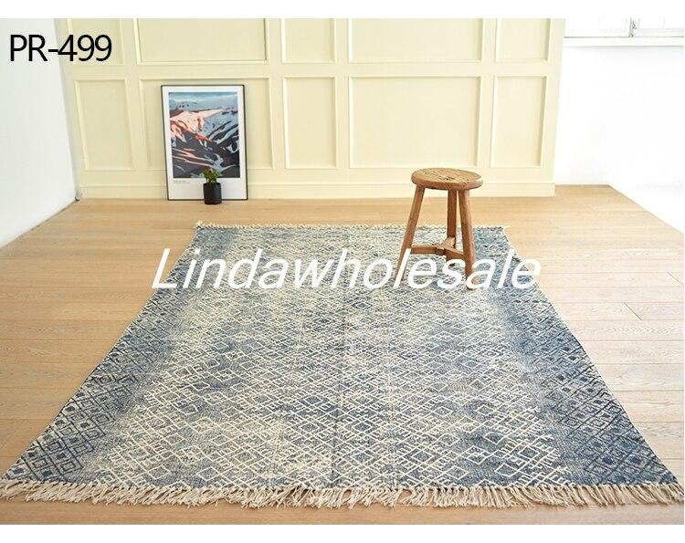 Хлопок гостиная, спальня журнальный столик ковер, PR-499 ковер с нордическим узором ковер ручной работы, ковры для гостиной
