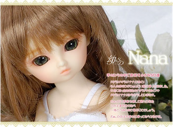 FREE SHIPPING ! FREE makeup&eyes! top quality 1/6 baby bjd girl doll little NANA best gifts cute model best gift kid toy hobbie