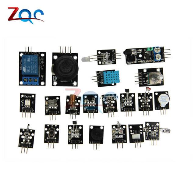 US $11 59 7% OFF sensor kit 37 in 1 Sensor Kit Module For Arduino Raspberry  Pi /joystick/photosensitive/Sound Detection/Obstacle avoidance/buzzer-in