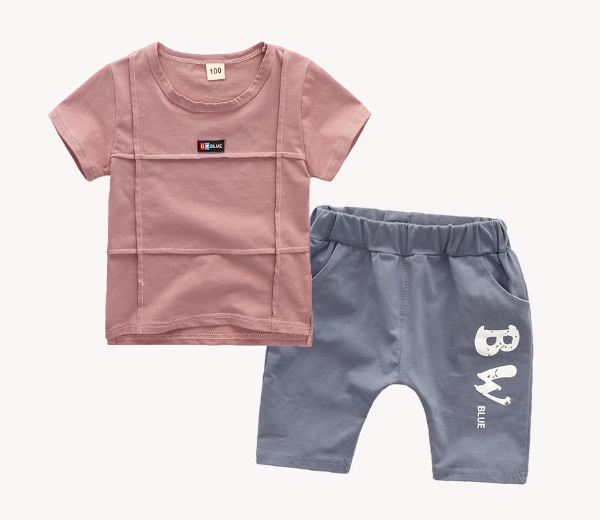2018 Brand Baby Clothes Suits Baby Girls Boys Causal Clothing Sets Childrens Suits 2 Pieces T shirt Sports Pants Kids Sets